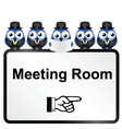 MEETING ROOM SIGN vector image vector image