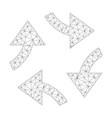 mesh swirl arrows icon vector image vector image