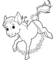 mice turned into horse vector image