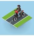motor bike on road top view vector image vector image