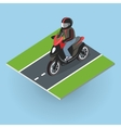 Motor Bike on the Road Top View vector image vector image