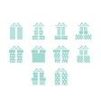 Open and closed box icons vector image vector image