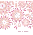 pink abstract flowers horizontal frame seamless vector image vector image