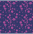 pink and purple seamless repeat floral pattern vector image