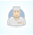 Prisoner inmate jailed man in prison robe icon vector image vector image