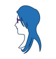 profile woman avatar with blue hair image vector image