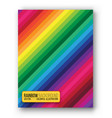 rainbow cover set vector image vector image