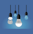 regular cfl and led bulb vector image vector image