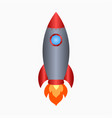 rocket spaceship take off with fire vector image vector image