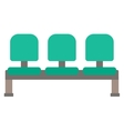 Row of green chairs vector image vector image