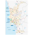san diego administrative and beach map vector image vector image