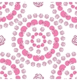 seamless circle pattern with pink cartoon elefants vector image