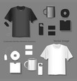 set of corporate identity template design vector image vector image
