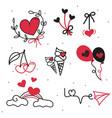 set of valentines day design elements vector image vector image
