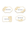 set of white and gold design templates for vector image vector image