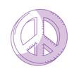 silhouette beauty hippie emblem symbol design vector image vector image