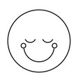 silhouette happy face male emoticon with eyes vector image