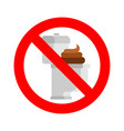 stop dirty toilet and shit ban filthy wc isolated vector image vector image