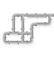 tube lines for plumbing and piping work pipe line vector image vector image