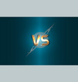 versus background gold letters logo on the vector image vector image