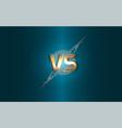 versus background gold letters logo vector image