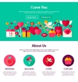 Website Design I Love You vector image