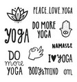 yoga quotes set of hand drawn lettering vector image