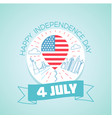4 july fourth of july vector image