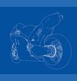 motorcycle sketch vector image