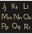 Retro light font vector image