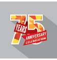75th Years Anniversary Celebration Design vector image vector image