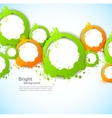 Abstract background with grunge circles vector image vector image