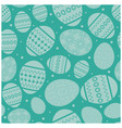 aquamarine easter seamless pattern with eggs vector image vector image