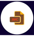 AVC computer symbol vector image vector image