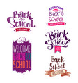 back to school label set vector image vector image