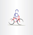 biker man stylized icon vector image