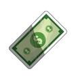 Billet money isolated vector image vector image