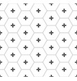 black honeycomb graphic seamless pattern over vector image vector image