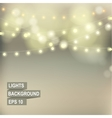 Bokeh garland lights vector image vector image