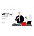 business management landing page vector image