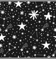childish seamless pattern with stars nursery baby vector image