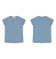 children technical sketch tee shirt in blue vector image vector image