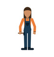 construction worker contractor avatar icon image vector image vector image