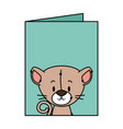 cute little cat character vector image
