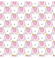 cute pink elephants seamless pattern vector image vector image