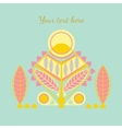 decorative abstract card vector image vector image
