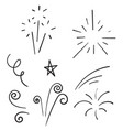 doodle collection swishes swashes swoops vector image vector image