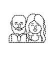 dotted shape nice couple with hairstyle design vector image vector image