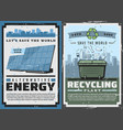 earth planet alternative energy eco recycling vector image