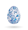 Easter egg with bright floral pattern vector image vector image
